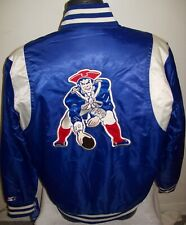 New England PATRIOTS Throwback STARTER Jacket S M L XL 2X BLUE & SILVER