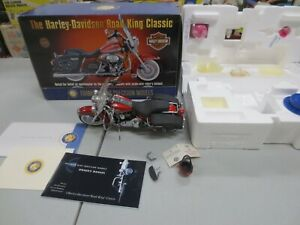 Franklin Mint 1/10 Diecast 1999 Harley Davidson Road King Motorcycle w/ Boxes/Ta