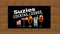 PERSONALISED Cocktail BAR WORKTOP RUNNER. PUB / BAR / SHOP / HOME. FREE POSTAGE