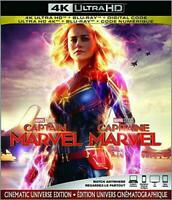 Captain Marvel (Bilingual) - 4K UHD Ultra HD + Blu-ray (2019) NO DIGITAL