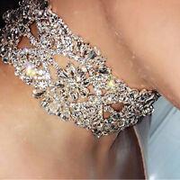 Charm Crystal Wide Collar Necklace Choker Pendant Womens Statement Bib Jewelry
