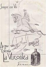 PUBBLICITA' 1933 GI.VI.EMME PROFUMO LA VISCONTEA COLONIA CACCIA A CAVALLO ABKASI