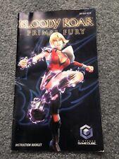 Manual Only (no Game)- Bloody Roar Primal Fury - Nintendo Gamecube - NGC