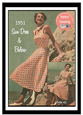 1950s Sun Dress and Bolero Vintage Sewing Pattern