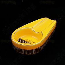 COHIBA Classic Yellow Ceramic Antislip Pocket Cigar Cigarette Ashtray