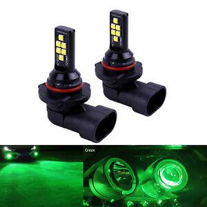 2x H10 Green LED Headlight Bulbs SMD 3030 Fog Driving Light Super Bright