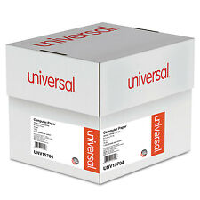 UNIVERSAL Computer Paper 3-Part Carbonless 15lb 9-1/2 x 11 White 1100 Sheets