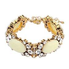 White Gold Plated Rhinestone Fashion Bracelets