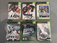 Xbox Spiele/Games Sammlung 6x Sport: NBA Live 2002, NHL 2003, FIFA 06, PES 4,...