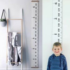 Child Baby Height Growth Chart Hanging Ruler Kid Room Wall Wood Frame Home Decor