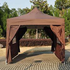 4.5x3m Garden  Pop Up Gazebo Marquee Party Tent Wedding Canopy Coffee Heavy Duty