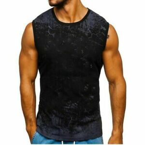 Undershirts Top Personality Clothes Fashion men's Formal Tops Boy T-Shirt Casual