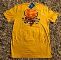 Mens Columbia PHG Deer Hunting Yellow Orange T-Shirt Size Large New NWT