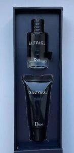 Dior SAUVAGE EAU DE TOILETTE 10 ml SHOWER GEL 20 ML MINIATURE VIP GIFT SET