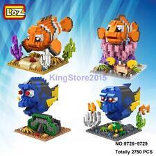 LOZ Cartoon Finding Nemo Clown Fish DIY Nano Block Diamond Mini Building Toy 4pc