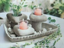 """PartyLite """"Living Stones"""" Candle Holders, Nib"""