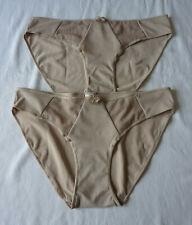 Lot de 2 Culotte femme sous vêtement lingerie slip beige taille M neuf
