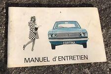 VINTAGE @ NOTICE, MANUEL D'ENTRETIEN DE 1966 POUR FORD CORTINA @ BON ETAT
