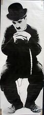 RARE CHARLIE CHAPLIN 1976 VINTAGE ORIGINAL DOOR SIZE HEAD SHOP POSTER