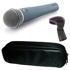 JTS NX-8 Handheld Dynamic Wired Vocal Microphone Live Stage DJ + Clip + Case