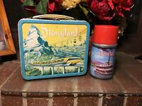 Disneyland Monorail metal lunch box and thermos Vintage 1960 Complete