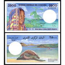COMOROS  COMORES  2500 Francs 1997 UNC P 13