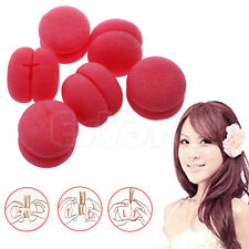 6 pcs Balls Soft Sponge Hair Care Styling Curler Rollers DIY New