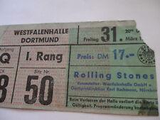 ROLLING STONES__1967__CONCERT TICKET STUB__Dortmund, Germany