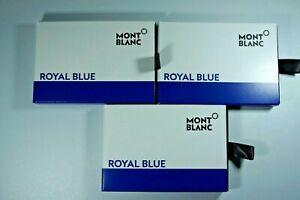 Montblanc ROYAL BLUE 3 packs of 8 Ink Cartridges BNIB 105193