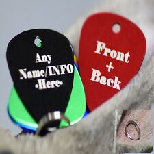 NEW 2020 Engraved Pet Tags Dog Cat ID personalised Bling Bone Badge Shaped tag