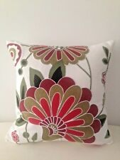 Green Red Floral Square Art Cotton Home Decor Pillow Throw Cushion Cover 18""