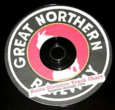 Great Northern Butte Division Track Chart Updated through 1956 PDF Pages on DVD