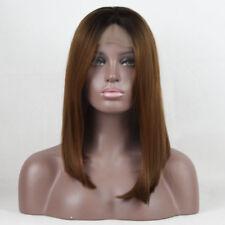 14inches Kurz Lace Front Wig Orange Braun Karneval Gelatte Coaplay Seidige Anime