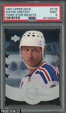 1997 Upper Deck Three Star Selects Die-Cut Wayne Gretzky HOF PSA 9 MINT