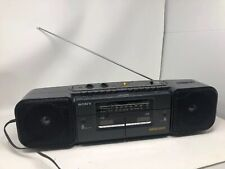Sony Cfs-W308 Am/Fm Stereo Dual Cassette Boombox Mega Bass Tested Working