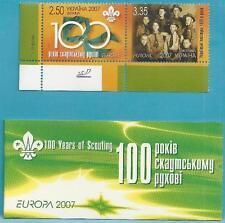 Ukraine aus 2007 ** postfrisch MiNr.856-857 + Markenheftchen 8 - Pfadfinder!