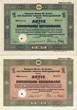 2 x Dessauer Werke AG VEB Chemie 1932/42 Braunschweig Dippe Quedlinburg Zyklon B