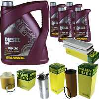 Motor-Öl 9L MANNOL Diesel TDI 5W-30+MANN-FILTER Filterpaket Audi A6 4F2 C6 2.7