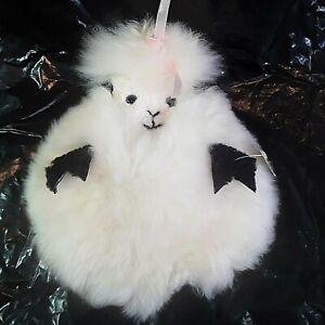 Sheepskin Lily Lamb Sheep Nursery Baby Throw Pillow Cover White Fluffy