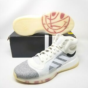 Adidas Marquee Boost G28978 Basketball Shoes NBA White Gray Boost Mens Size 18