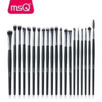 20PCs Eye Makeup BRUSHES Kit Set Powder Blusher Eyeshadow Eyeliner Lip Brush MSQ