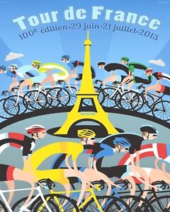 "10 x 8"" TOUR DE FRANCE 2013 CYCLE RACE BICYCLE CYCLING METAL PLAQUE TIN SIGN 646"