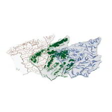 Plantillas Mapas España FAIBO 15 x 12,5 cm, Pack x3