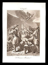 santino incisione acquatinta 1800 S.CIRIACO M. patr. di TORRE LE NOCELLE