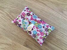 Handmade Packet Tissue Holder Case Made Using Antique Erica Fabric