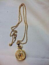 Avon's Very Best The President's Club Necklace Pocket Watch Clock Roman Numerals