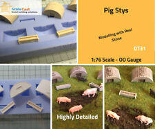 Model Railway Scenery Pig Stys DT31 Mould - 1:76 Scale OO Gauge