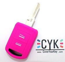 Clave, funda protectora de silicona rosa flúor opel a Agila combo Corsa C meriva Tigra Astra