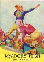 1951 McADORY/JONES VALLEY HIGH SCHOOL FOOTBALL ALABAMA*COCA COLA*LON KELLER