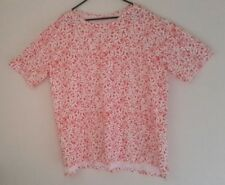 NWOT Women's Orange/White Boat Neck Tunic Floral Top Sz 1X By (Women Within)